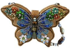 Special butterfly diamonds design , luxury clutch , rhinestone bag.