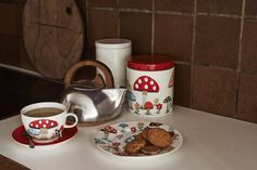 Mushroom coffee break - with the biggest cuppa you've ever seen | #CathKidston