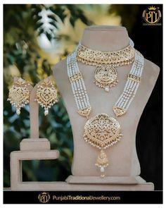 Pakistani Bridal Jewelry, Indian Wedding Jewelry, Wedding Jewelry Sets, Indian Bridal, Indian Baby, Bridal Jewellery, Bridal Lehenga, Jewelry Design Earrings, Gold Jewellery Design