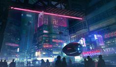 Cyberpunk Taipei, Daniel Liang on ArtStation at https://www.artstation.com/artwork/8LDnE