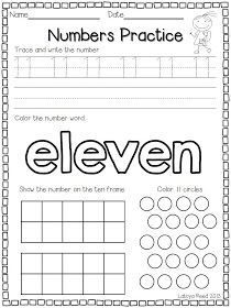 Flying into First Grade: FREEBIE for Numbers 11-20