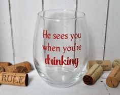 Christmas Wine Glasses Secret Santa Gift Ideas by DashofFlair