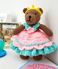 Princess Bear Play Set - FREE pattern by Red Heart yarns