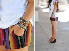 mexi shorts and lots of bangles  » kailaniskorner.com