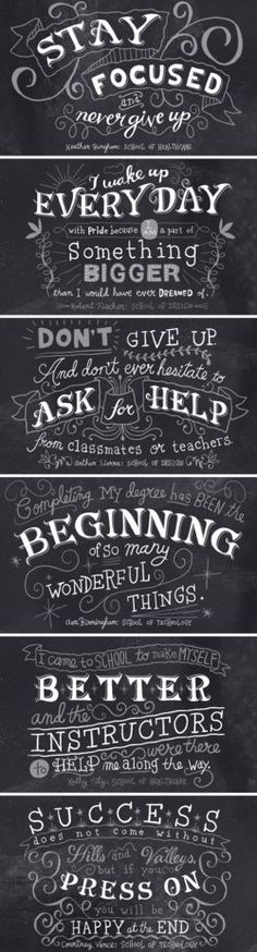 hand-letteted chalk