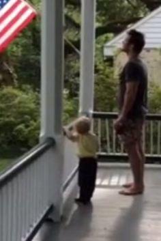 Chris Pratt Teaches His Son The Pledge Of Allegiance In Adorable Video