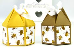 Pootles' Beehive Box Tutorial using Stampin' Up! DSP Squeeeeeeaaaaak!!!! Oh I am so excited about how this box has turned out! I created a prototype of it months ago, but never quite got around to ...