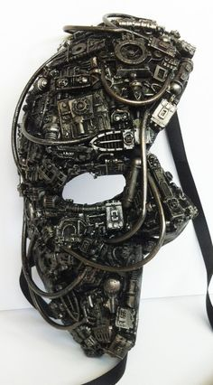steampunk / techno phantom mascarade mask. $60.00, via Etsy.
