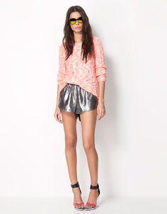 silver sporty shorts