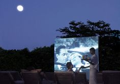 Open air cinema at Soneva Fushi and Six Senses Spa