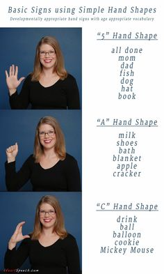 Basic Sign Language using Simple Hand Shapes | iHeartSpeech.com