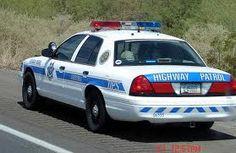 Arizona state police car