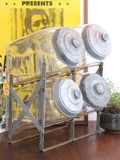 【アンティーク 古道具 JIKOH】レトロ ジャパン ヴィンテージ ガラスの駄菓子屋4連ショーケース【楽天市場】人気です