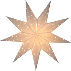 PAPER STAR LIGHTS 9 POINTED WHITE STAR