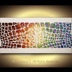 Original Large Abstract Art on Canvas Textured...