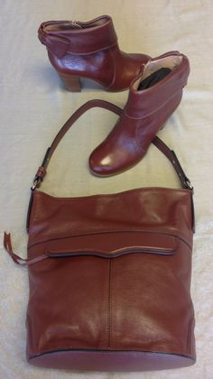 Kate Spade Brown Leather Booties sz.7 $161, Rebecca Minkoff Leather Purse $138