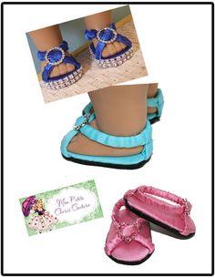 Mon Petite Cherie Couture Diamond Sandals Doll Clothes Pattern 18 inch American Girl Dolls | Pixie Faire