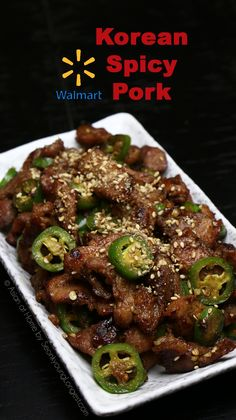 Walmart Asian Spicy Pork Recipe & Video - Seonkyoung Longest