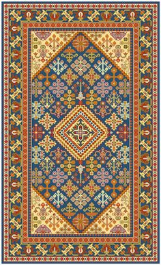 diseño oriental con flores para una alfombra de x m Persian Maimeh, central Iran 3 X 5 Turkish Art, Chart Design, Tapestry Crochet, Persian Carpet, Rug Hooking, Cross Stitching, Rugs On Carpet, Embroidery Stitches, Needlepoint