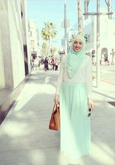 pastel hijab outfit, Modest street hijab fashion http://www.justtrendygirls.com/modest-street-hijab-fashion/