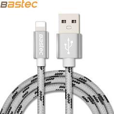 Bastec camuflaje 8 pines de metal de alambre trenzado de sincronización de datos del cargador cable usb para iphone 7 6 s 6 más 5 5S ipad 4 mini 2 3 air 2