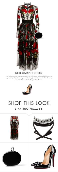 """""""Oscars #1"""" by anja-173 on Polyvore featuring Dolce&Gabbana, Charlotte Russe, Halston Heritage and Christian Louboutin"""