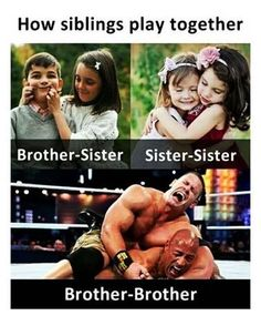 The Best Sibling Memes about Sister and Brothers - Funny Quizz Sibling Fighting, Sibling Memes, Memes Of The Day, Having A Bad Day, Brother Sister, Siblings, Funny Memes, Funny Videos, Funny Pictures