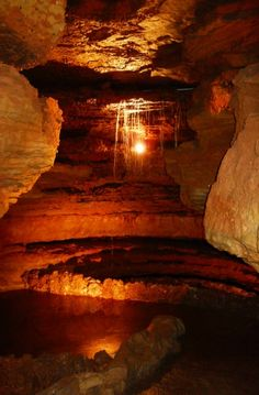 Bulls Shoals Caverns in Bulls Shoals, Arkansas. yr old w underground river & waterfall-if ever passing thru! The Places Youll Go, Places To See, Places To Travel, Caves, Arkansas Usa, Texarkana Arkansas, Arkansas Vacations, Auckland, Mississippi
