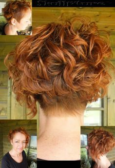 hair styles curly hair and curly with buzzed nape buzzed nape 5192