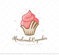 This handmade cupcake logo is perfect for individual bakers, hand-made bakery products, and cupcake shops. The design just expresses the richness of handmade flavours. Cupcake Logo, Cupcake Shops, Bakery Logo, Be Perfect, Slogan, Handmade, Design, Products, Craft