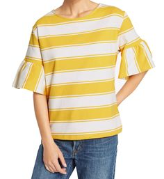 MARKS & SPENCER COLLECTION Cotton Rich Flared Sleeve T-Shirt T41/4986F.  UK16 EUR44  MRRP: £15.00GBP - AVI Price: £9.00GBP