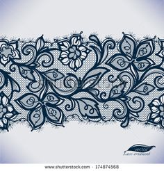 Abstract lace ribbon seamless pattern with elements flowers Template frame design for card Lace Doily Can be used for packaging, invitations, and templateVector lace ornament Lace Garter Tattoos, Ribbon Tattoos, Flower Tattoos, Black Lace Tattoo, Phulkari Embroidery, Lace Tattoo Design, Muster Tattoos, Tattoos For Women Half Sleeve, Tattoo Flash Art