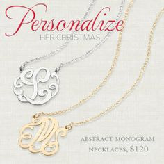 Every girl needs a monogrammed necklace from Lee Michaels in the Acadiana Mall! http://www.lmfj.com/