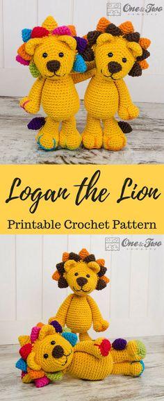 Logan the Lion Amigurumi Crochet Pattern Printable PDF #ad #amigurumi #amigurumidoll #amigurumipattern #amigurumitoy #amigurumiaddict #crochet #crocheting #crochetpattern #pattern #patternsforcrochet #printable #instantdownload #pdf #lion