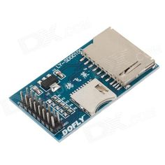 The SD card module, with the 3.3V regulator chip, support 3.3V and 5V system, it can be driven by 51, AVR, ARM, SPI communication mode. At the same time, support the SD card, Micro card (TF). The use of double row, 2 SD card can be used at the same time. http://j.mp/1lkw7sr
