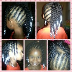 Natural hair style for little girls #naturalhair #naturalhairstyles