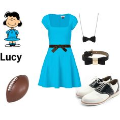 """Lucy from Charlie Brown"" by constancesimmo on Polyvore"
