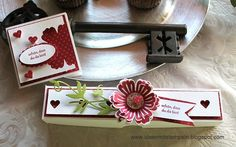 Box and Mini-Card with stamps from Stampin´Up!