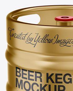 30L Metallic Beer Keg Mockup
