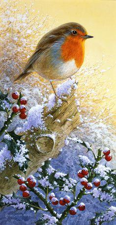 Christmas Scenery, Christmas Artwork, Christmas Bird, Winter Scenery, Christmas Drawing, Christmas Paintings, Vintage Christmas Cards, Christmas Wallpaper, Christmas Pictures