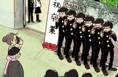 Osomatsu-San-todos cambiaron desde su graduacion