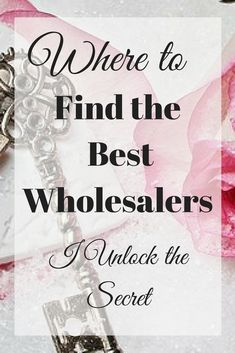 Don't know where to find wholesalers? Here, I unlock the secret to finding the best wholesalers. I show you exactly where to find them! Business Planning, Business Tips, Online Business, Make Money From Home, How To Make Money, Starting An Online Boutique, Wholesale Home Decor, Wholesale Jewelry, Wholesale Boutique Clothing