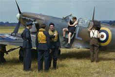 WW2 - RAF pilots and groundcrew prepare a Spitfire during the Battle of Britain, outside London, 1940 - image © Time & Life Pictures