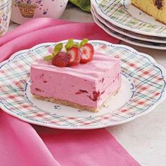 Creamy strawberry dessert.  Yummy! I've made this several times.