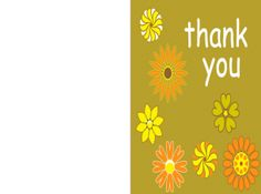 print this modern floral Thank You card and show some appreciation today!