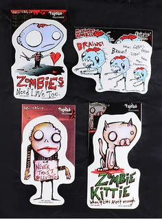 Silly Zombies Stickers Set | PLASTICLAND