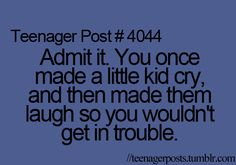 ok, I admit....I did this many times to my brother when we were young!