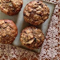 Hearty Whole Wheat Muffins! - zucchini, banana, carrot, raisin, coconut, yogurt, applesauce etc. YUM!