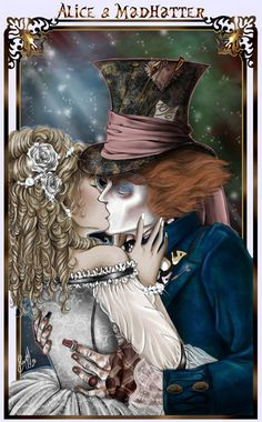 Alice and the mad hatter representing the Tarot lovers card? (sometimes I feel I've been here, done that...)
