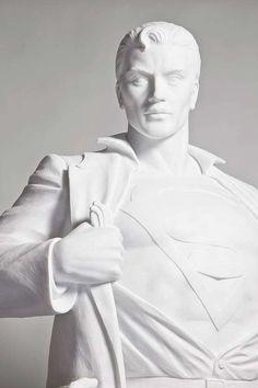 Mauro Perucchetti Creates Stunning Sculptures of Superman & Batman #superhero #decor trendhunter.com